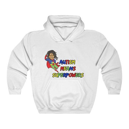 Autism Means Superhero Hooded Sweatshirt