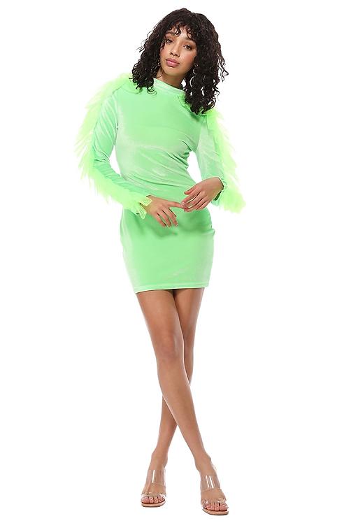 Keep It Cute Ruffle Sleeve Mini Dress