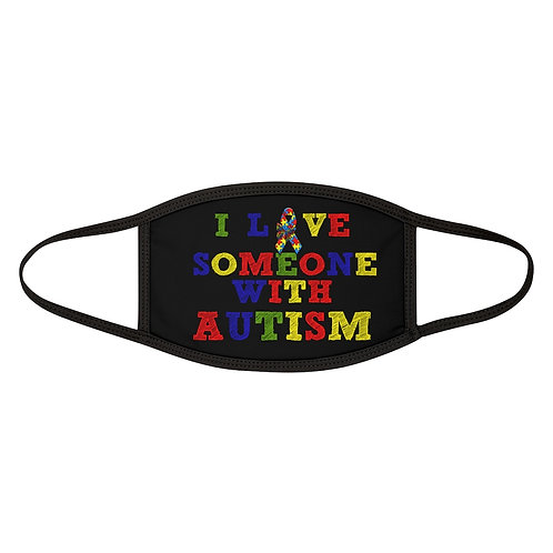I Love Someone With Autism Adult Face Mask