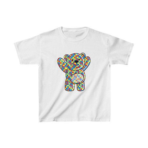 Autism Teddy Bear Kids Tshirt
