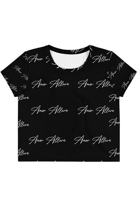 Amor Allure Logo Print Crop Top