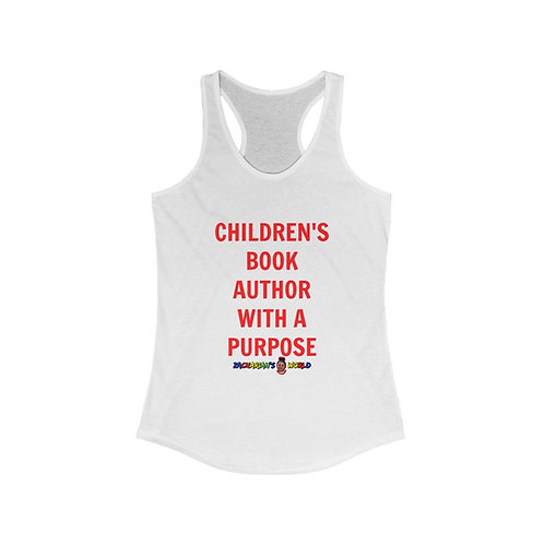 Children's Book Author With A PurposeWomen's  Racerback Tank