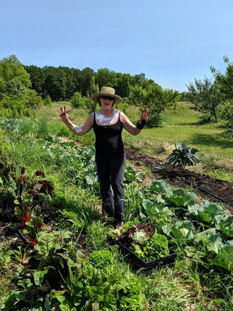 Jean Larson grows beautiful vegetables. This week she harvested vibrant lettuce, leeks, parsley, and kale for delivery to a few local families who are part of her developing community support agriculture initiative.