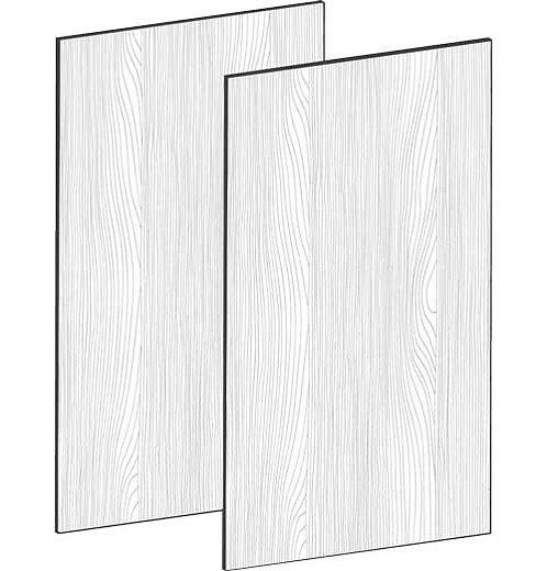 FLAT OAK - B75 x H64 cm (2 x 37 cm) Dörr, MEB495