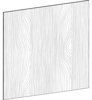 FLAT OAK - B122,2 x H88 cm, Täcksida köksö, MEB447