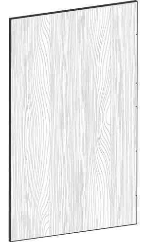 FLAT OAK - B39,8 x H65 cm, Täcksida väggskåp, MEB461