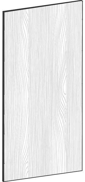 FLAT OAK - B60 x H120 cm, Skåplucka högskåp, vitvara MEB428