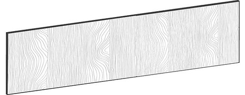FLAT OAK - B80 x H20 cm, Lådfront, MEB439