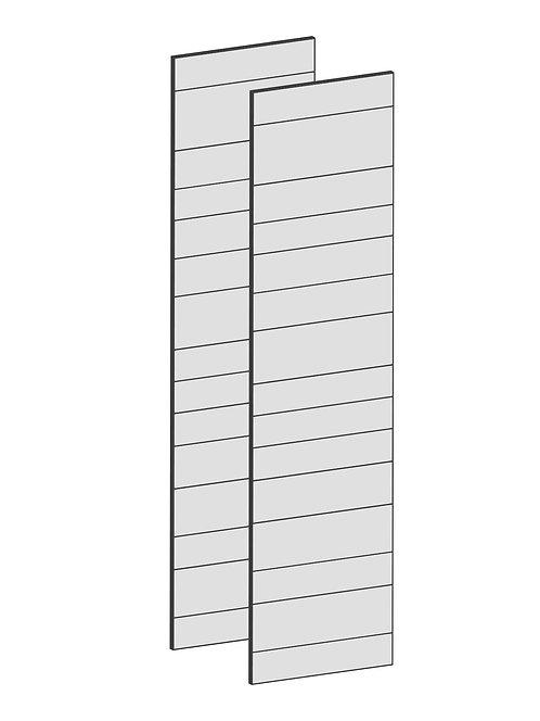 RAW OAK - B100 x H195 cm (2 x 50 cm), Dörr,  MEB192