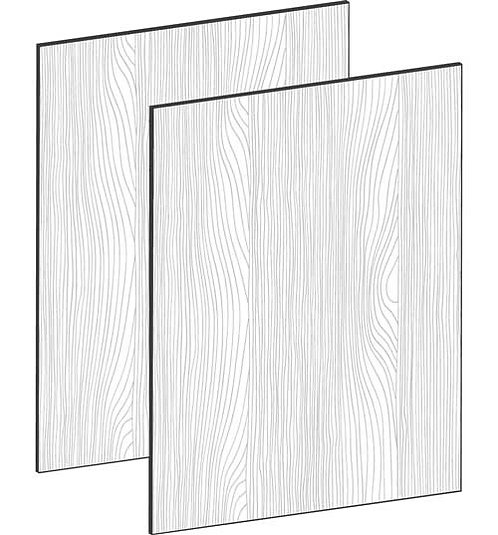 FLAT OAK - B100 x H64 cm (2x50 cm) Dörr, MEB496
