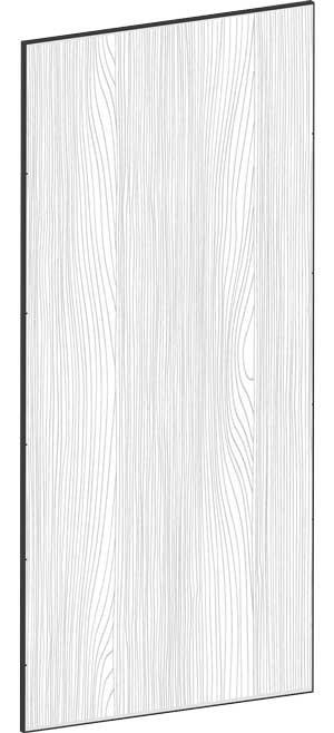 FLAT OAK - B39,8 x H88 cm, Täcksida bänkskåp, MEB442