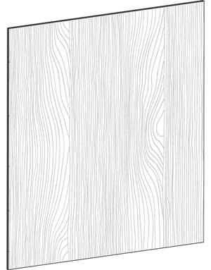 FLAT OAK - B77,2 x H88 cm, Täcksida köksö, MEB445