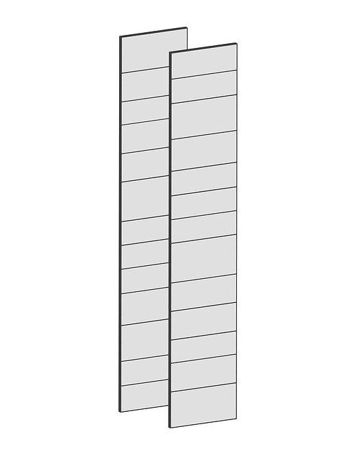 RAW OAK - B75 x H195 cm (2 x 37 cm) Dörr, MEB190