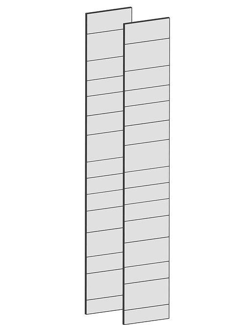 RAW OAK - B75 x H230 cm (2 x 37 cm) Dörr, MEB191