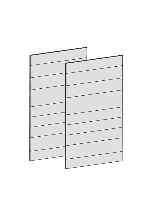 RAW OAK - B75 x H64 cm (2 x 37 cm) Dörr, MEB195