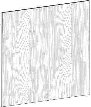 FLAT OAK - B67,5 x H67,5 cm, Täcksida väggskåp, MEB468