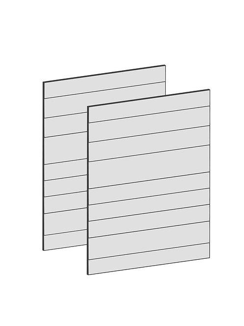 RAW OAK - B100 x H64 cm (2x50 cm) Dörr, MEB196
