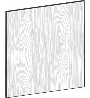 FLAT OAK - B39,8 x H40 cm, Täcksida väggskåp, MEB460