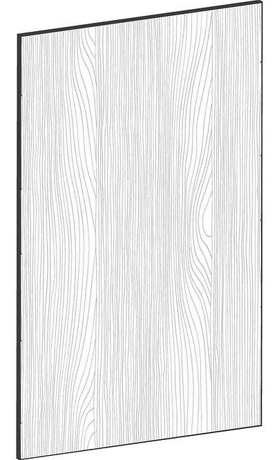 FLAT OAK - B40 x H65 cm*, Skåplucka väggskåp MEB403