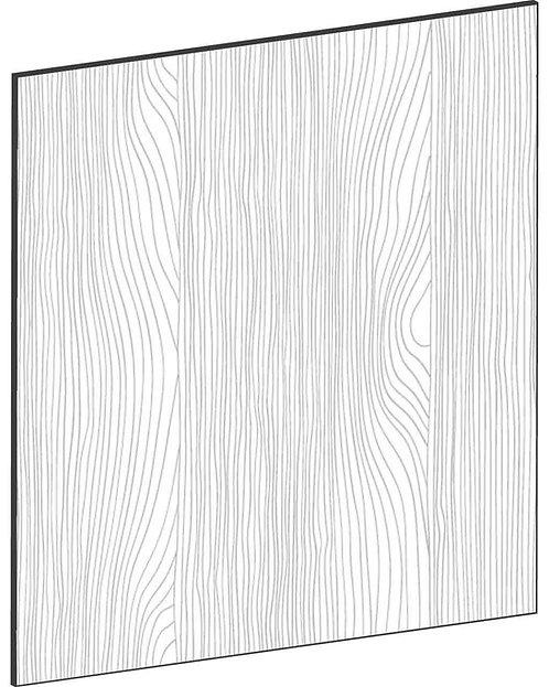 FLAT OAK - B60 x H65 cm*, Skåplucka väggskåp MEB404