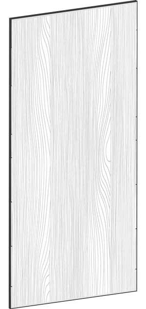 FLAT OAK - B39,8 x H85 cm, Täcksida väggskåp, MEB462