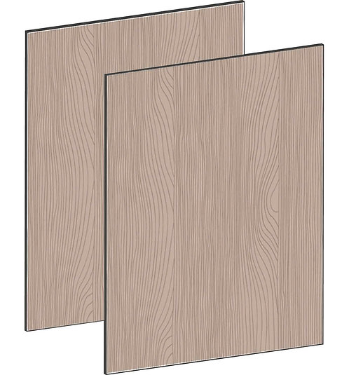 FLAT WALNUT - B100 x H64 cm (2x50 cm) Dörr, MEB796