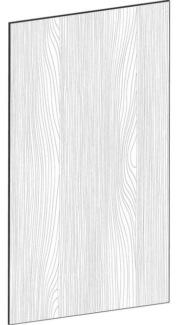 FLAT OAK - B60 x H105 cm*, Skåplucka väggskåp MEB409