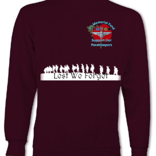 JJMF Remembrance Poppy Sweatshirt
