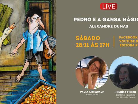 A Editora Piu traz pela primeira vez no Brasil PEDRO E A GANSA MÁGICA