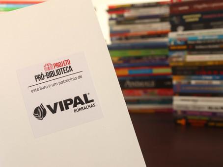 Vipal Borrachas patrocina mais uma entrega do Pró-Biblioteca