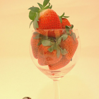 Srawberries in wine glass.JPG