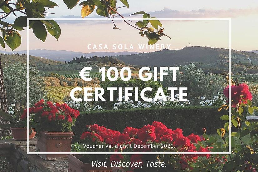 Casa Sola Gift Voucher - Value 100 euro
