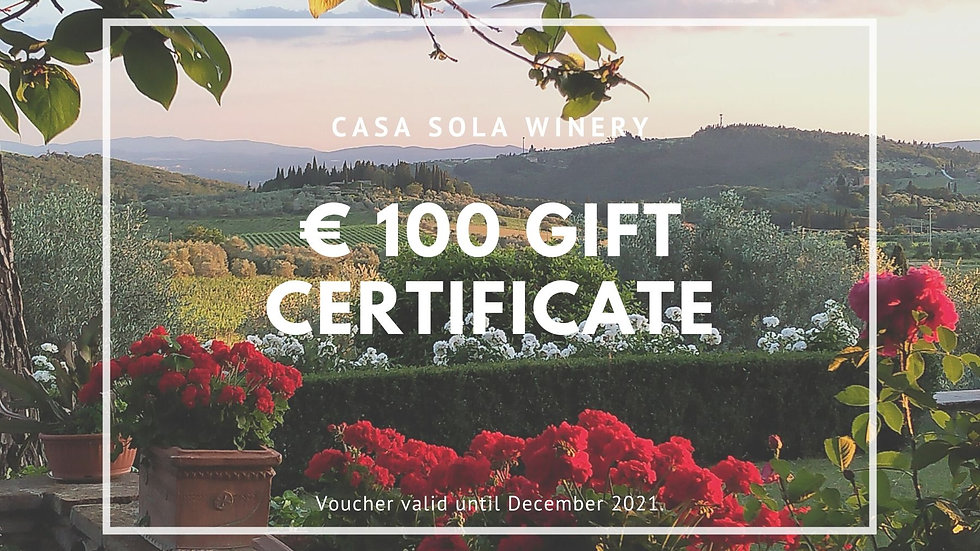 Casa Sola Gift Voucher - Value 100 euro