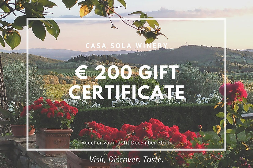 Casa Sola Gift Voucher - Value 200 euro
