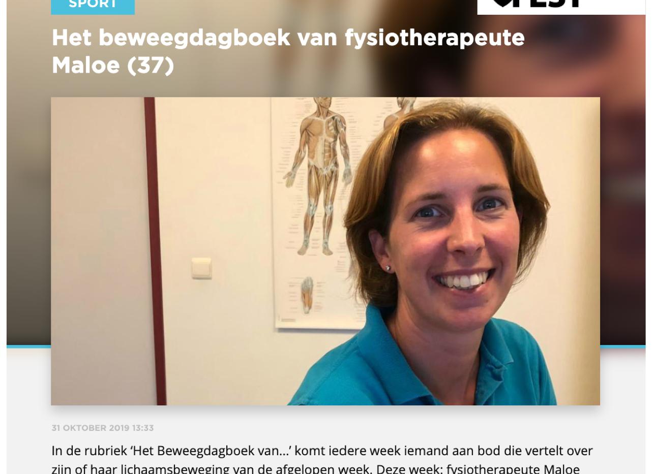 Het beweegdagboek van fysiotherapeute Maloe (37)