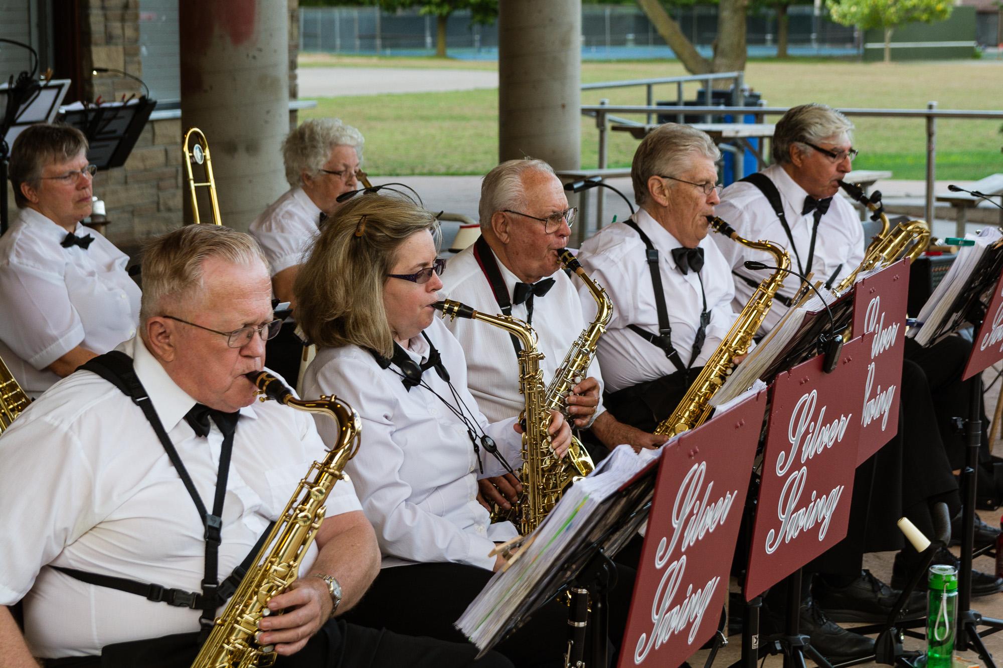 Saxophones - John Thombs, Cindy Gollinger, Rudy Wasylenky, Ian McNaughton and Roger Girard_
