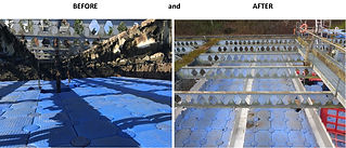 Pontoon on clean water tank for launder replacement