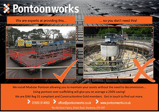 Pontoon solutions for the water industry