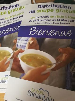 Les nouvelles affiches pour la distribution de soupe sont arrivées !!!