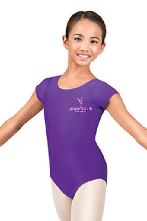 Purple DS33 Logo Leotard - Shortsleeve
