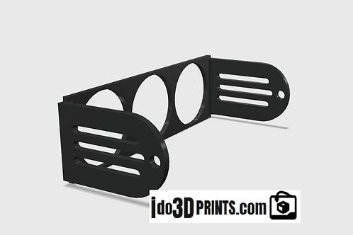 "Universal DIN Gauge Pod - 52mm (2-1/16"") Single/Dual/Triple pod radio mount"