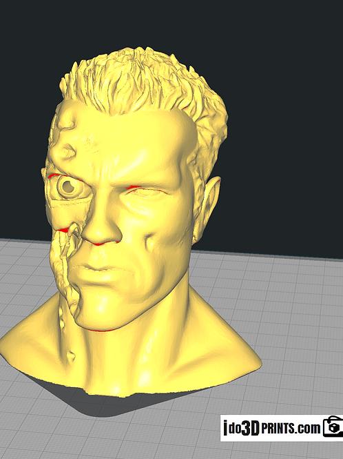 Terminator t800 bust T2 3D print Arnold Schwarzenegger