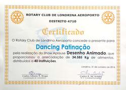 aplause 2016 certificado dancing