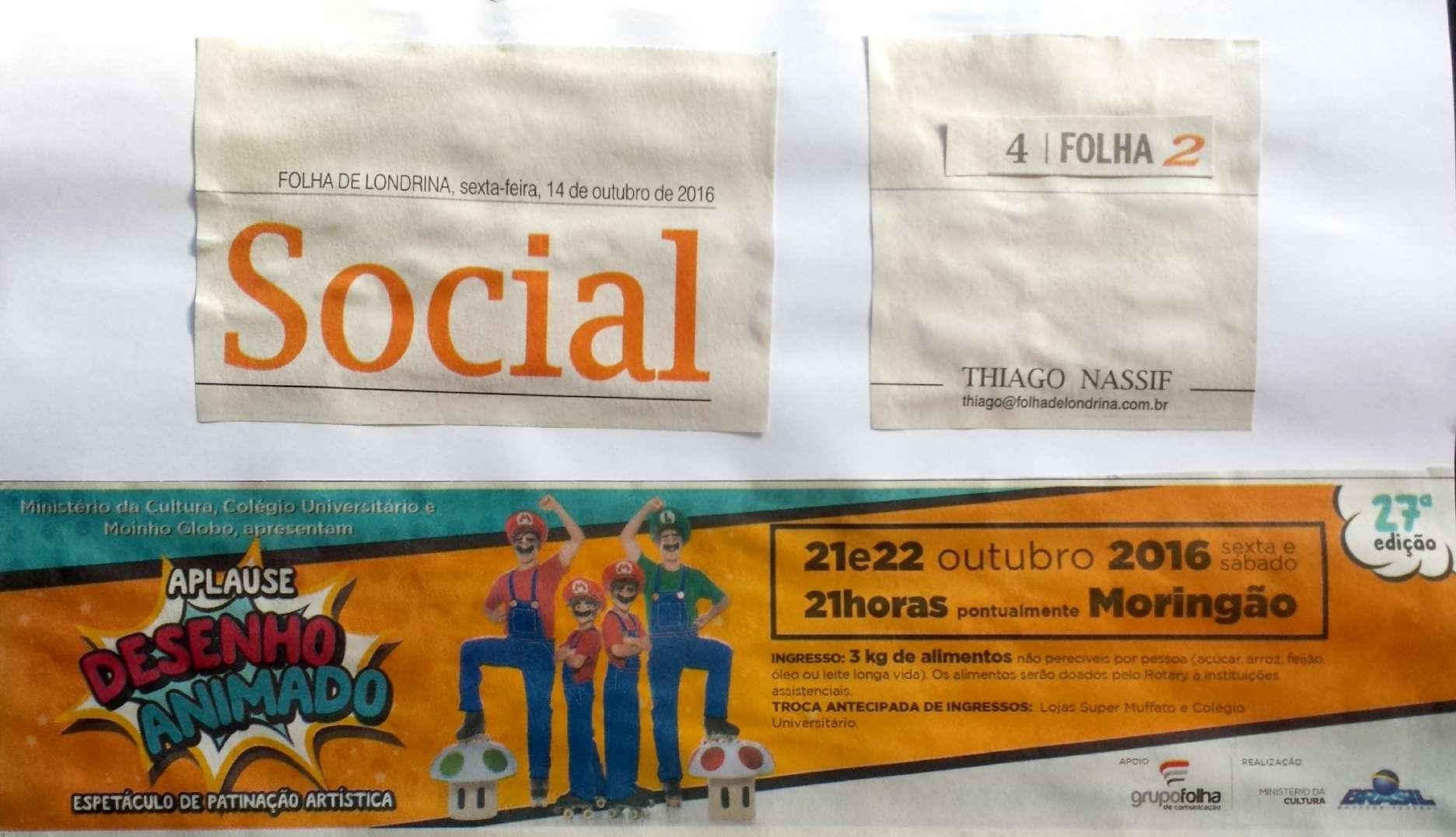 aplause 2016 folha de londrina 14 out
