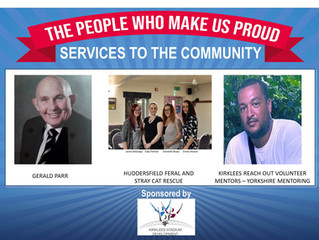 We were finalists in the Services to the Community Award in Kirklees.