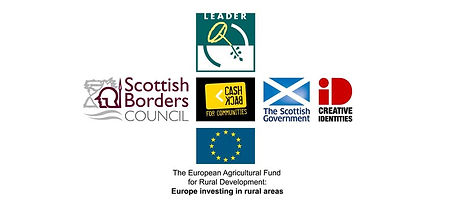 Scottish Borders Council, Leader, Cashback, The Scottish Government (God bless yer, Nicola marm), Creative Identities, and the European Agricultural Fund