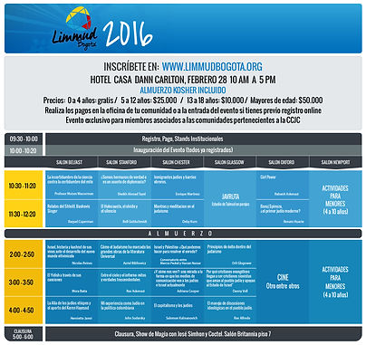 Limmud Bogota 2016    Programa e inscrip