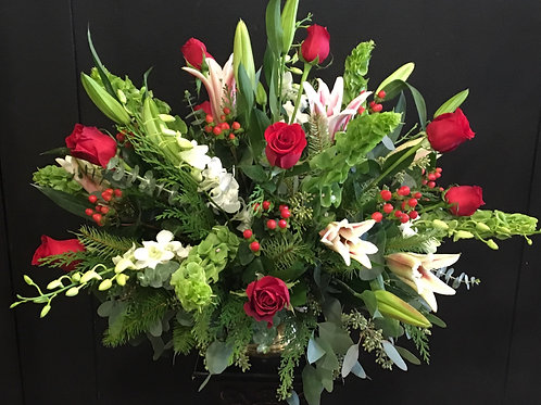 Valentine's - Dozen Roses with Other Flowers
