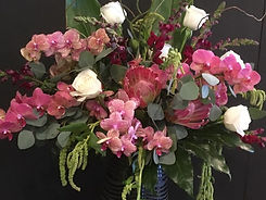 Pink Orchids and Protea.jpg