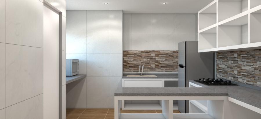 Potong Pasir concrete kitchen design